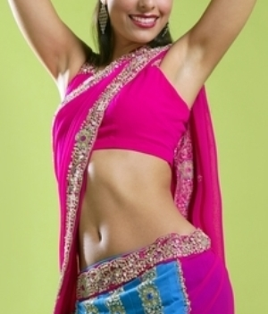 Indian jewel Saree